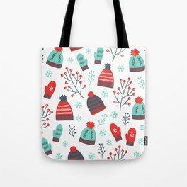 Colorful Christmas Symbols Seamless Pattern Tote Bag