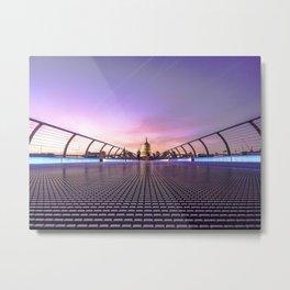 Millennium Bridge, London Metal Print