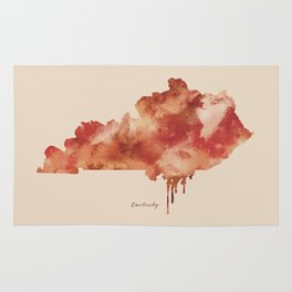 Kentucky Watercolor State Rug