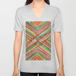 Abstract No. 291 Unisex V-Neck