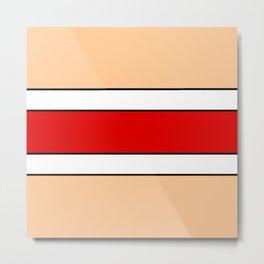 Horizontal stripes 2 color of ceramic Metal Print