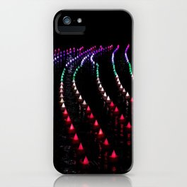Light City | Colorful lights in Baltimore Inner Harbor, MD iPhone Case