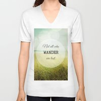 wander V-neck T-shirts featuring Wander by Olivia Joy StClaire