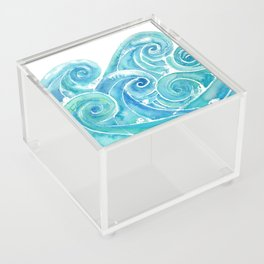 Watercolor Waves Acrylic Box
