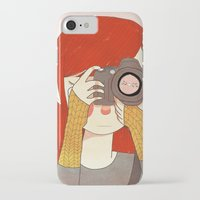 nan lawson iPhone & iPod Cases featuring Behind The Lens by Nan Lawson
