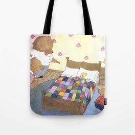 Goldilocks Caught Sleeping Tote Bag