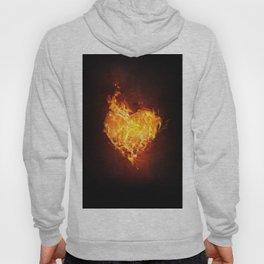 Fire Flame Burn Heart Love Hoody