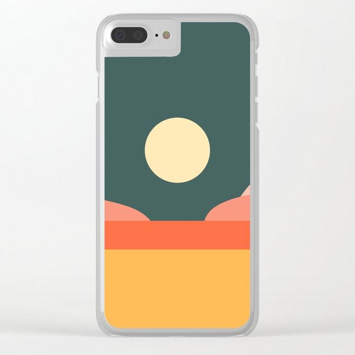 Geometric Landscape 14 Clear iPhone Case