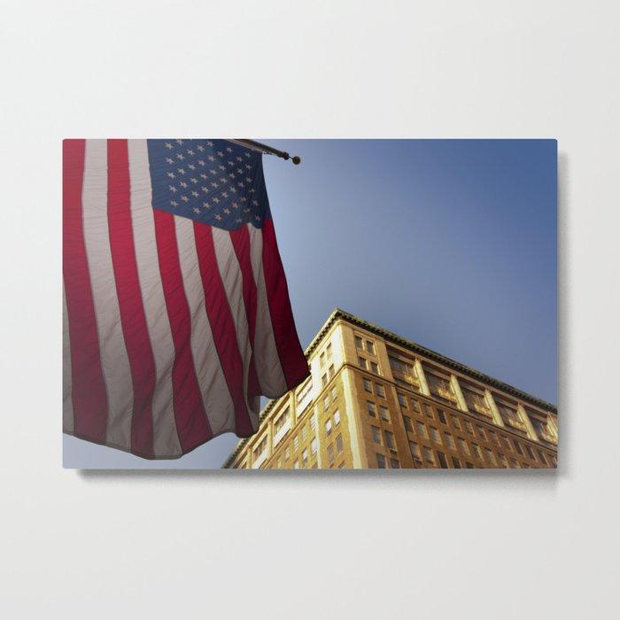 Cornice with flag Metal Print