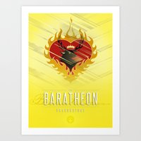 westeros Art Prints featuring Stannis Baratheon Sigil III (house seat) by P3RF3KT