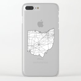 Ohio White Map Clear iPhone Case