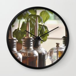 Olive and basilicum Wall Clock