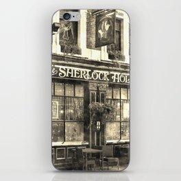 The Sherlock Holmes pub Vintage iPhone Skin