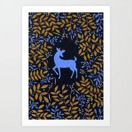 Woodland Nights Art Print