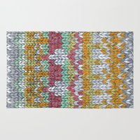 knitting Area & Throw Rugs featuring KNITTING #3 by NADEZDA FAVA