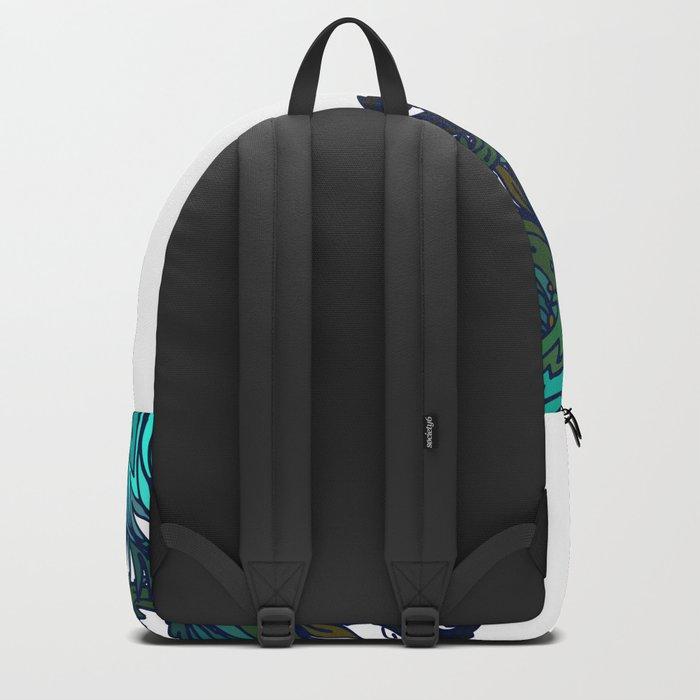 Green Floral Indian Corner Backpack