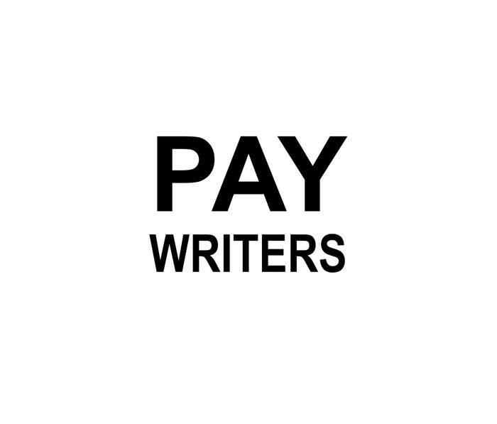 PAY WRITERS Metal Travel Mug