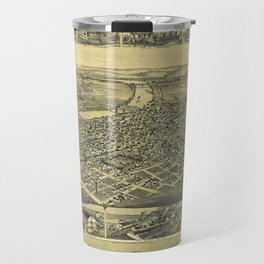 Aerial View of Canal Dover, Ohio (1899) Travel Mug
