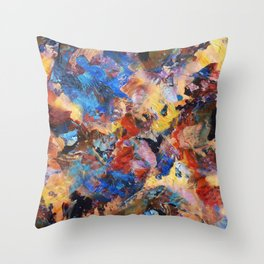 Dark Paint Splash Throw Pillow