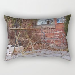 Winter time table and chair Rectangular Pillow