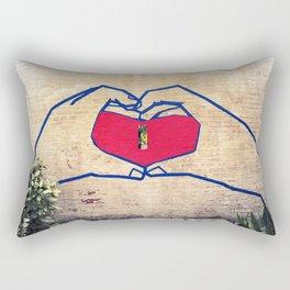 Love (edited) Rectangular Pillow
