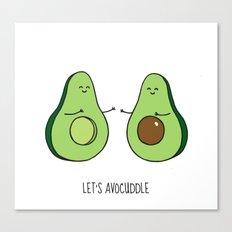 Let's Avocuddle! Canvas Print