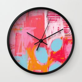some things haven't worked out - abstract painting Wall Clock