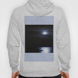 Moon Over Lake Michigan Hoody