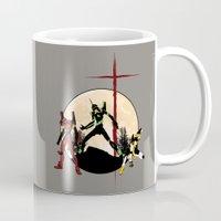 evangelion Mugs featuring Neon Genesis Evangelion - Hill Top by kamonkey