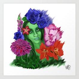 A Bouquet for Her Art Print