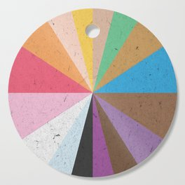 Rainbow Wheel of Inclusivity Cutting Board