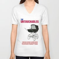 movie poster V-neck T-shirts featuring The Untouchables Movie Poster by FunnyFaceArt