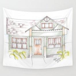 Green Craftsman Wall Tapestry
