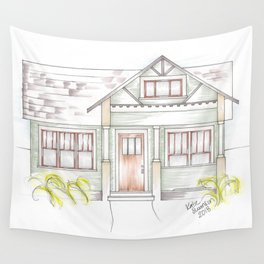 Green Craftsman Wall Tapestry