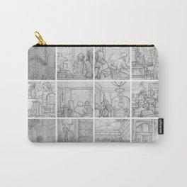 Cafe sketches by David A Sutton. 18 piece horizontal. sketchbookexplorer.com Carry-All Pouch