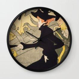 """Henri de Toulouse-Lautrec """"Divan Japonais"""" Wall Clock"""