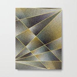 GREY TO YELLOW Metal Print
