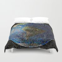 earth Duvet Covers featuring Earth  by 2sweet4words Designs
