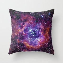Rosette Nebula Throw Pillow