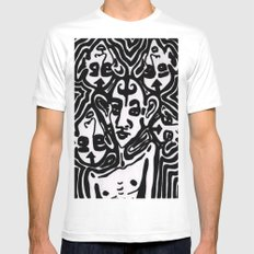 The Gossips White Mens Fitted Tee MEDIUM