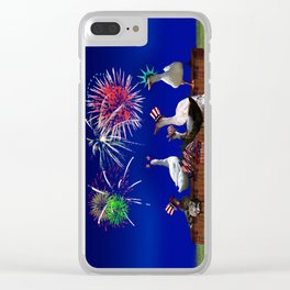 Ducky Celebration for the 4th of July Clear iPhone Case