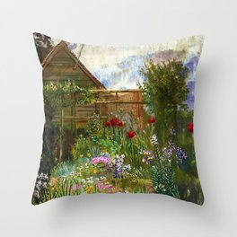 A Garden in Spring by Anna Lea Merritt Throw Pillow