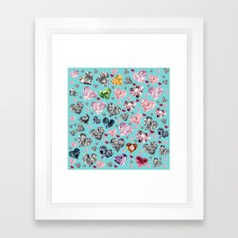 Heart Diamonds are Forever Love Framed Art Print