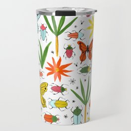 bright bugs butterflies and blooms Travel Mug