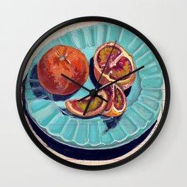 Blood Oranges in Gouache Wall Clock