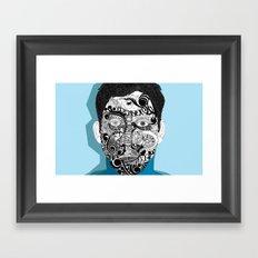 Abstract Face #art Framed Art Print