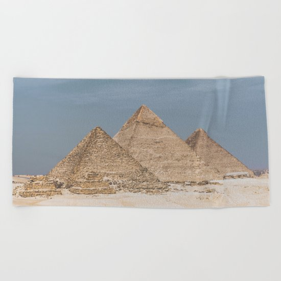 Giza Pyramid Complex Beach Towel