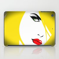 woman iPad Cases featuring Woman by Cs025
