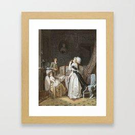 Jean-Baptiste Mallet GRASSE 1759 - 1835 PARIS THE MUSIC LESSON Framed Art Print