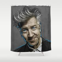 lynch Shower Curtains featuring DAVID LYNCH by AMBIDEXTROUS™